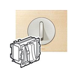 Выключатель бесшумный без фиксации с НО/НЗ контактом 6 А артикул 67033