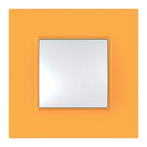 Рамка Unica Quadro 1 Место Оранжевый Schneider Electric MGU4-702-29
