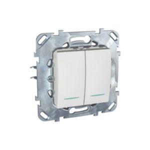 Двухклавишный Выключатель 2Мод С Инд. Ламп Белый Schneider Electric MGU5-0101-18NZD