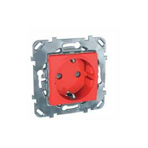 Розетка С З/К Со Шторками (Винт. Зажим) Красный Schneider Electric MGU5-037-03ZD