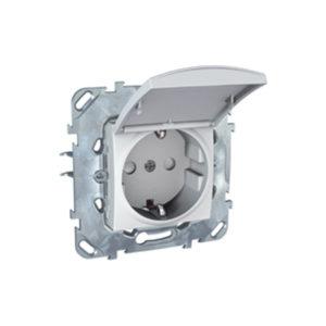 Розетка С З/К Со Шторками (Винт. Зажим) с крышкой Белый Schneider Electric MGU5-037-18TAZD