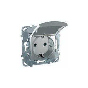 Розетка С З/К Со шторками (Винт. Зажим) С Крышкой Алюминий Schneider Electric MGU5-037-30TAZD