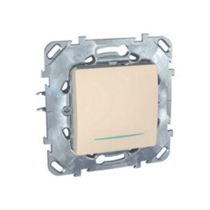 Одноклавишный Выключатель (Сх.1) с инд. ламп Бежевый Schneider Electric MGU5-201-25NZD