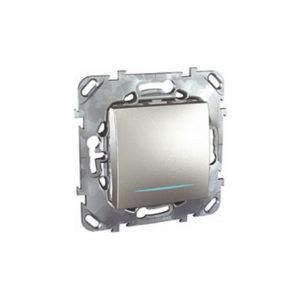 Одноклавишный Выключатель (Сх.1) С Инд. Ламп Алюминий Schneider Electric MGU5-201-30NZD