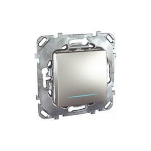 Одноклавишный Переключатель (Сх.6) с инд. ламп Алюминий Schneider Electric MGU5-203-30NZD