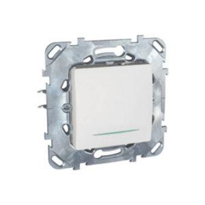 Одноклавишный Кнопочный Выключатель С Инд. Ламп Белый Schneider Electric MGU5-206-18NZD