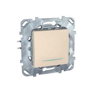 Одноклавишный Кнопочный Выключатель С Инд. Ламп Бежевый Schneider Electric MGU5-206-25NZD