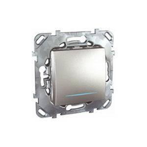 Одноклавишный Кнопочный Выключатель С Инд. Ламп Алюминий Schneider Electric MGU5-206-30NZD