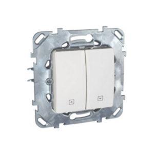 Выключатель для жалюзи, Нажимной Белый Schneider Electric MGU5-207-18ZD