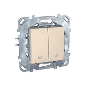 Выключатель для жалюзи, Нажимной Бежевый Schneider Electric MGU5-207-25ZD
