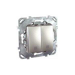 Выключатель Для Жалюзи Нажимной Алюминий Schneider Electric MGU5-207-30ZD