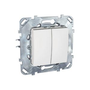 Двухклавишный Выключатель (Сх.5) Бежевый Schneider Electric MGU5-211-18ZD
