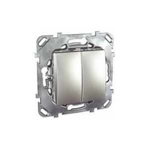 Двухклавишный Переключатель (Сх.6+6) Алюминий Schneider Electric MGU5-213-30ZD