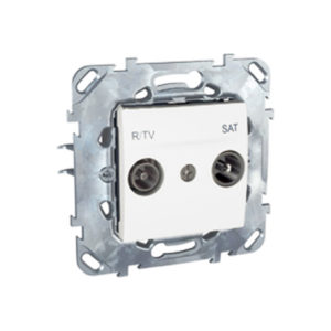 R-Tv/Sat Розетка Проходная Белый Schneider Electric MGU5-456-18ZD