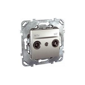 R-Tv/Sat Розетка Проходная Алюминий Schneider Electric MGU5-456-30ZD
