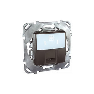 Плата на суппорте для Коннекторов Amp & Krone, Графит Schneider Electric MGU5-460-12ZD