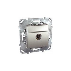 Tv Розетка Одиночная Алюминий Schneider Electric MGU5-462-30ZD