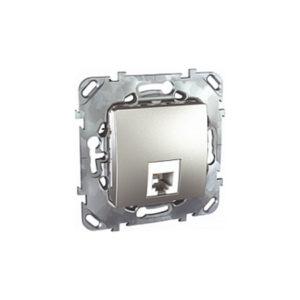 Телефонная Розетка 1Хrj11 (4 Конт) Алюминий Schneider Electric MGU5-492-30ZD