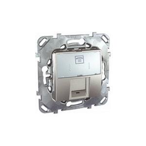 Телефонная Розетка 1Хrj12 (6 Конт) Алюминий Schneider Electric MGU5-493-30ZD