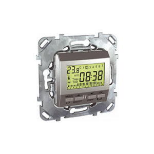 Пограммируемый Термостат 8А (От+5 До +35 Град) Алюминий Schneider Electric MGU5-505-30ZD