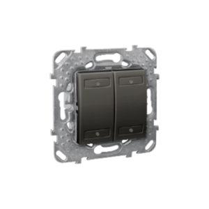 4-Кноп. Выключатель с Индикатором Led, Графитит Schneider Electric MGU5-531-12