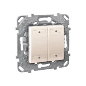4-Кноп. Выключатель с Индикатором Led, Бежевый Schneider Electric MGU5-531-25