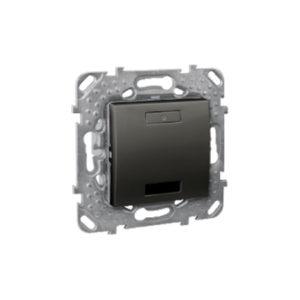 2-Кноп. Выключатель с Led, Ик-Приемн., Графитит Schneider Electric MGU5-532-12