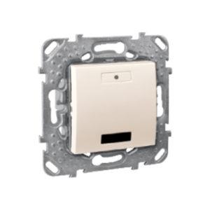 2-Кноп. Выключатель с Led, С Ик-Приемн., Бежевый. Schneider Electric MGU5-532-25