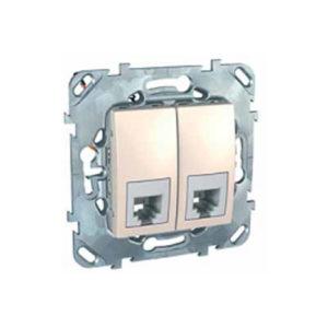 Телефонная Розетка 2Хrj11 (4 Конт) Бежевый Schneider Electric MGU5-9090-25ZD