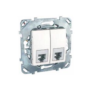 Телефонная Розетка 2Хrj12 (6 Конт) Белый Schneider Electric MGU5-9191-18ZD