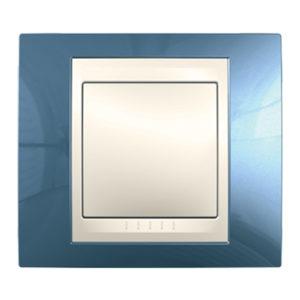 Рамка 1 Место, Хамелеон Голубой Лед/ Бежевый Schneider Electric MGU6-002-554