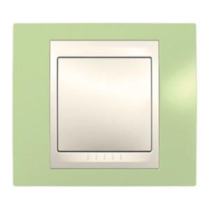 Рамка 1 Место, Хамелеон Зеленое Яблоко/ Бежевый Schneider Electric MGU6-002-563