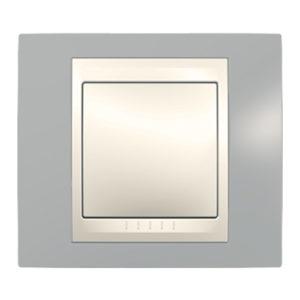 Рамка 1 Место, Хамелеон Серый/ Бежевый Schneider Electric MGU6-002-565