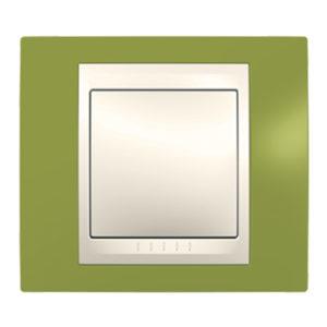 Рамка 1 Место, Хамелеон Серый/ Бежевый Schneider Electric MGU6-002-566
