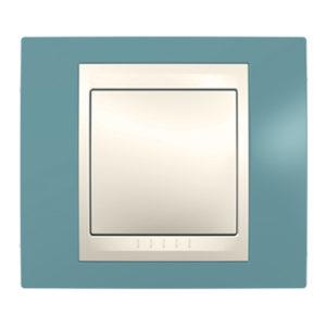 Рамка 1 Место, Хамелеон Синий/ Бежевый Schneider Electric MGU6-002-573