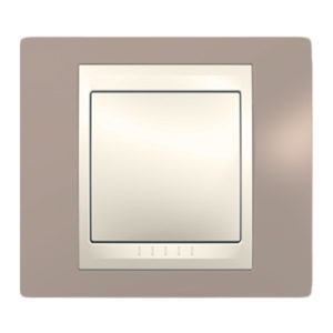 Рамка 1 Место, Хамелеон Коричневый/ Бежевый Schneider Electric MGU6-002-574