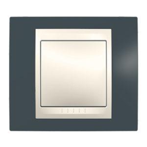 Рамка 1 Место, Хамелеон Серо-Зеленый/ Бежевый Schneider Electric MGU6-002-577