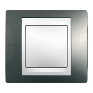 Рамка 1 Место, Хамелеон Шампань/ Белый Schneider Electric MGU6-002-824
