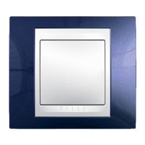 Рамка 1 Место, Хамелеон Индиго/ Белый Schneider Electric MGU6-002-842