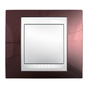 Рамка 1 Место, Хамелеон Терракотовый/ Белый Schneider Electric MGU6-002-851