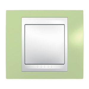 Рамка 1 Место, Хамелеон Зеленое Яблоко/ Белый Schneider Electric MGU6-002-863