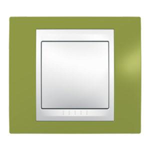 Рамка 1 Место, Хамелеон Фисташковый/ Белый Schneider Electric MGU6-002-866