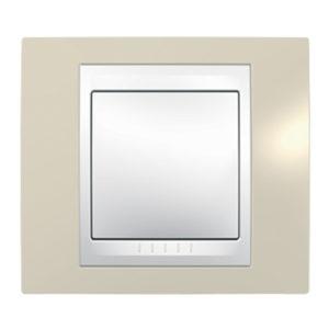 Рамка 1 Место, Хамелеон Песчаный/ Белый Schneider Electric MGU6-002-867
