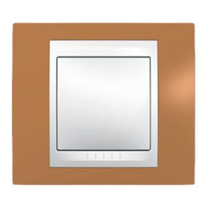 Рамка 1 Место, Хамелеон Оранжевый/ Белый Schneider Electric MGU6-002-869
