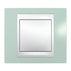 Рамка 1 Место, Хамелеон Морская Волна/ Белый Schneider Electric MGU6-002-870