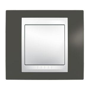 Рамка 1 Место, Хамелеон Какао/ Белый Schneider Electric MGU6-002-871