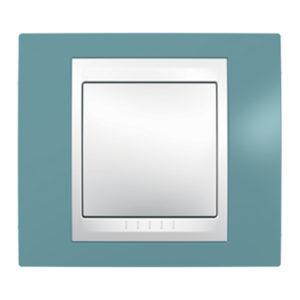 Рамка 1 Место, Хамелеон Синий/ Белый Schneider Electric MGU6-002-873