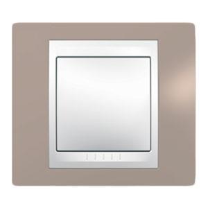 Рамка 1 Место, Хамелеон Коричневый/ Белый Schneider Electric MGU6-002-874