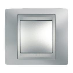 Рамка Х1, Хром Матовый/Алюминий Schneider Electric MGU66-002-038