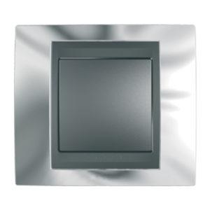 Рамка Х1, Хром/Графит Schneider Electric MGU66-002-210